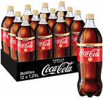 Coke No Sugar Vanilla 12 x 1.25L $15.70 + Delivery (Free with Prime/ $49 Spend) @ Amazon AU