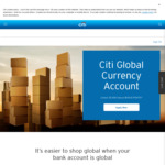 Citibank - Bonus 25,000 ($125) Flybuys Points When Open a Citi Global Currency Account & Convert $1000 AUD