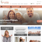 Extra 20% off Storewide and Free Shipping @ TLC Latex Pillows (e.g. High & Firm $76 Shipped, Was $149)