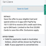 AmEx Statement Credits, PayPal Get 20% Back Each Time, up to $40