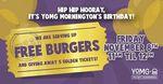 [VIC] Free Burgers on 8/11 at 11AM - 12PM @ YOMG Mornington
