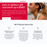 Medibank Private: $400/ $200 adidas Gift Card + Waive 2 and 6 Month Waiting Periods on Extras