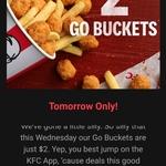 [VIC, WA] KFC: $2 Go Buckets 12/2 (via App Only)