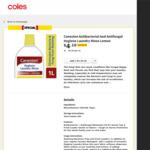 Canesten Hygiene Laundry Rinse Lemon 1 Litre $4.10 @ Coles