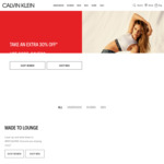 30% off Sitewide (Includes Already Reduced Items) @ Calvin Klein