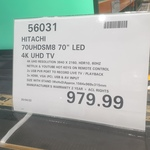 "[QLD] Hitachi 70UHDSM8 70"" LED 4K UHD TV $979.99 @ Costco North Lakes (Membership Required)"