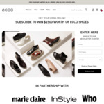 Win 1 of 2 $1500 ECCO Online Shopping Vouchers from Ecco Shoes Pacific