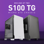 Win 1 of 2 Thermaltake S100 Tempered Glass Micro ATX Chassis from Thermaltake ANZ
