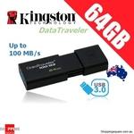 Kingston MicroSD Card 256GB $49.96, Kingston DataTraveler 100 G3 USB 3.0 Drive 64GB $11.95, 128GB $23.95 + Del @ Shopping Square
