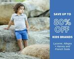 Up to 80% off Kids Fashion from Lycorne & Allegra + Harvey