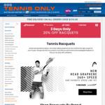 TennisOnly 20% Off Frames: Clash 100Pro/ Blade 98v7 18x20 $219.96 Ezone 98/100 2020 &Vcore Pro 97 $259.95 Phantom 93/97P $239.95
