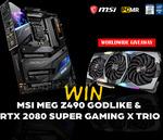 Win an MSI MEG Z490 Godlike Motherboard & RTX 2080 Super Gaming X Trio GPU from MSI/PCMR/Intel