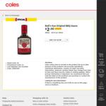 ½ Price Bull's Eye Barbeque Sauce 300ml Varieties $2 @ Coles