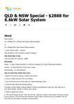 [NSW, QLD] 6.6kW ZNShine 370W High-Efficiency / Risen 330W Solar Panels + 5kW Growatt Inverter $2,888 @ Sunline Energy