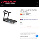 Horizon Adventure 3 Treadmill $1299 Delivered (RRP $1899) @ Johnson Fitness Australia