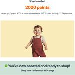 2000 Points with $50+ Spend @ Big W via Everyday Rewards