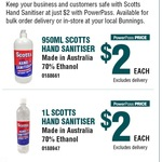 Scotts Hand Sanitiser 950ml $2.00 via Powerpass @ Bunnings [In-store, Trade Only]