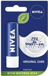 NIVEA Lip Balm, Original Care $1.75 + Delivery ($0 with Prime and $39 Spend) @ Amazon AU