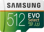 Samsung EVO Select 512GB microSDXC UHS-I U3 $95.05 + Delivery (Free Shipping with Prime) @ Amazon US via AU