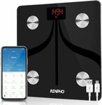 RENPHO USB Rechargeable Body Fat Scale with App $28.99 (Save $15) + Delivery ($0 with Prime/ $39 Spend) @ AC Green Amazon AU