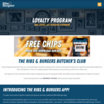 [QLD, VIC, NSW, WA] Ribs&Burgers Butcher's Club: Free Small Chips upon Joining / 5x Points Every Tuesday