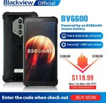 """Blackview BV6600 (Android 10, 5.7"""", 4GB/64GB, 8580mAh, NFC, IP68) US$131.99 (~A$170.44) Delivered @ Blackview AliExpress"""