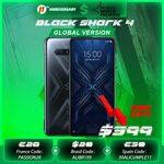 "[Presale] Xiaomi Black Shark 4 5G, 6.67"" AMOLED 144Hz, 6GB, 128GB US$416.90 (A$548.86) Shipped @ Black Shark Official AliExpress"