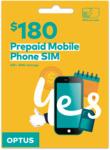 Optus Prepaid $180 Mobile SIM Starter Kit (100GB + 20GB Bonus Data, 365 Day Expiry) - $150 @ Optus (Online Only)
