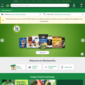 15% off Coupon with Targeted Minimum Spend Requirement via Honey @ Woolworths