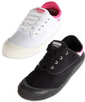 Women's Dunlop Volley White/Fuschia or Black/Cerise Sizes 6, 7, 8, 9 - $9.99 Delivered until Noon