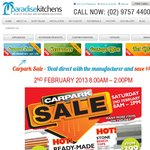 Paradise Kitchens Sydney Bathroom Products & Accessories Car Park Sale 2nd Feb Save up to 70%