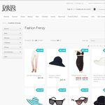 David Jones Online Extra 25% off Marked Price Selected Fashion, Accessories + P&H - Monday Only