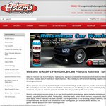 Adam's Premium Car Care Products EOFY 10% off Everything