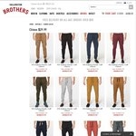 Chinos $29.99AUD - Save $33AUD - 24 Hours Only - Free Delivery on Orders over $50AUD @ Hallensteins