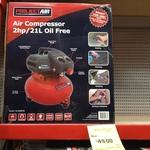Spear & Jackson 2HP 21L Air Compressor - $49 @ Bunnings Moorabbin (VIC)