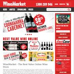 $25 Voucher to Spend on WineMarket - Minimum $60 Spend and Excludes Delivery