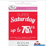 Peter's of Kensington up to 75% Deals- 50% off Bodum Drinkware & Le Creuset Grill Amongst Deals