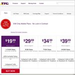 First Month Plan Fee Free on TPG Mobile (Requires $10 Setup and Activation Fee)