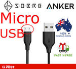 SOBRE eBay Store - Anker PowerLine Micro USB Cable 0.9m 3ft Black - @ $7.29 Shipped #EXTRA 5% off When Buy 2+