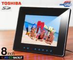 """Toshiba 8"""" LED Backlit Digital Media Frame - $69.70 + P.H., Normally $179."""
