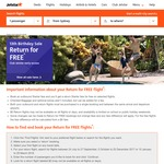 Jetstar Return for Free Sale - Domestic from $39 & International from $129 Return