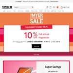 Further 10% off Myer Stocktake Sale for Students (in Store) or Everyone (Online)