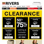 Rivers - Up to 75% off Clearance Clothing. Prices from $4.99