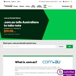 GoDaddy .com.au Domains $19.98 for 2 Years