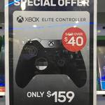 Xbox Elite Controller for $159 (Instore) or $132.15 (eBay Store) @ EB Games