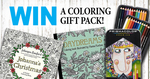Win a Prismacolor, Johanna Basford & Hanna Karlzon Colouring Gift Pack from SarahRenaeClark.com