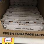 Coles Bondi Junction (NSW) Fresh Farm Cage Eggs $0.50