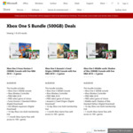 Xbox One S Bundle (500GB) Deals for $309 with 3 Games @ Microsoft Store