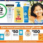 50% off All Sunscreen, Bonus Woolworths Rewards Points on Uber & Jetstar Gift Cards (10% Value) at Woolworths