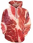 Meat Printed Hoodie, Sizes M to XXL $15.38 USD (~ $20.50 AUD) + $7.50USD Shipping @ Rosewholesale.com